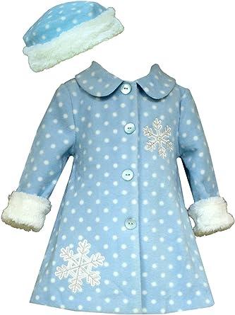 Red 0-3M Bonnie Jean Little Girls Vest A-Line Holiday Fleece Coat /& Hat 6X