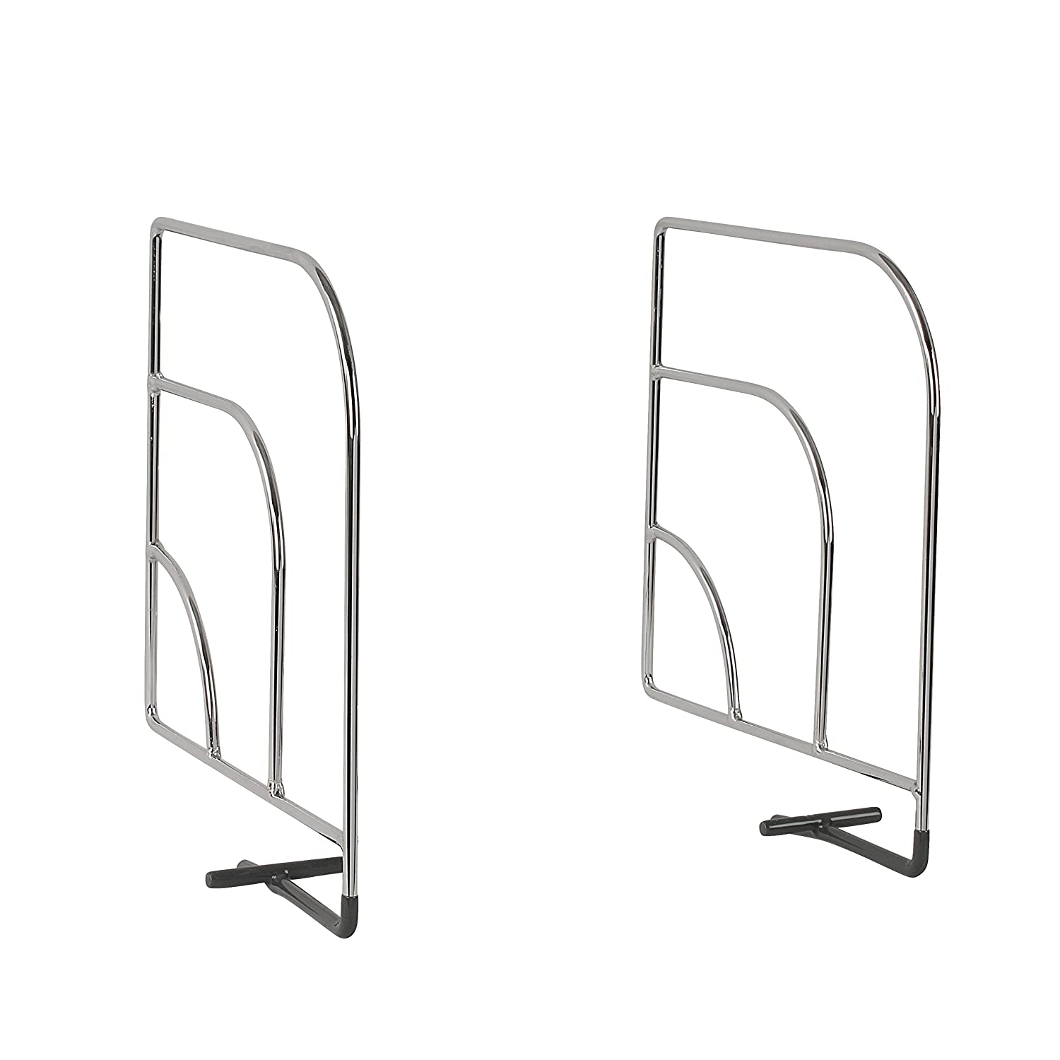 Spectrum Diversified Over The Shelf Divider, Small, 1-Pair, Chrome Inc 77070
