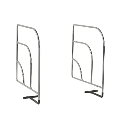 Spectrum Diversified Over The Shelf Divider, Small, 1-Pair, Chrome