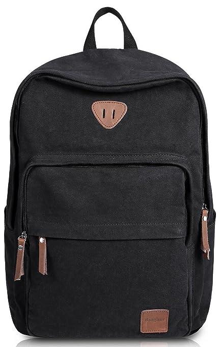 a9ae7f8d275e Ibagbar Vintage Canvas Backpack Rucksack Laptop Bag Computer Bag Daypack  Travel Bag College Bag Book Bag School Bag Gym Sports