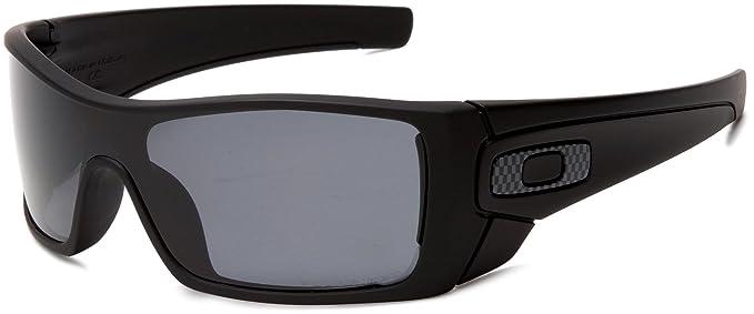 oakley sunglasses amazon  oakley men's batwolf polarized rectangular sunglasses,matte black frame/grey lens,one size