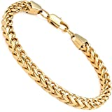 """FIBO STEEL 6mm Wide Curb Chain Bracelet for Men Women Stainless Steel High Polished,8.5-9.1"""""""