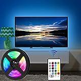 USB Tira Led para TV con una longitud de 2.5 metros. P24 teclas con control remoto por infrarrojos para controlar la…