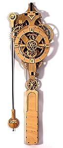 Abong David Wooden Gear Wall Clock Kit - 3D Clock Puzzle Model Kit - DIY Wooden Clock Kit
