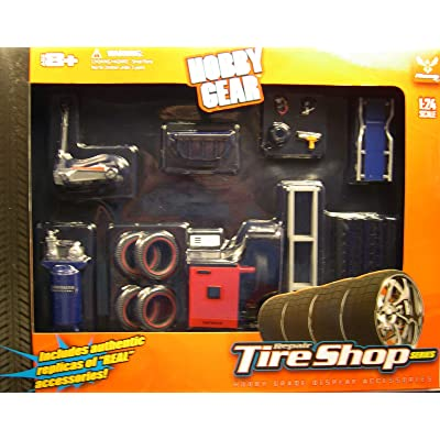 Repair Tire Shop Series 1:24 Scale - 20 pc set: Toys & Games