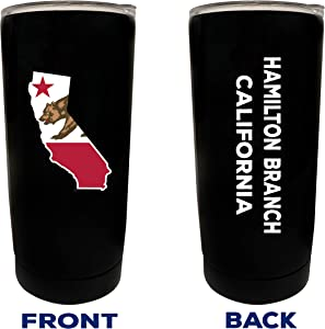Hamilton Branch California Souvenir 20 oz Black Insulated Stainless Steel Tumbler Glossy brushed finish