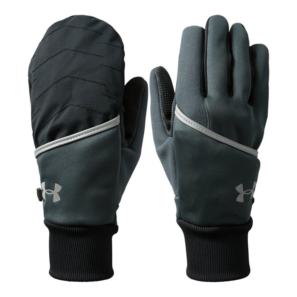 Under Armour Men's Convertible ColdGear Reactor Run Gloves, Stealth Gray (008)/Silver, Medium