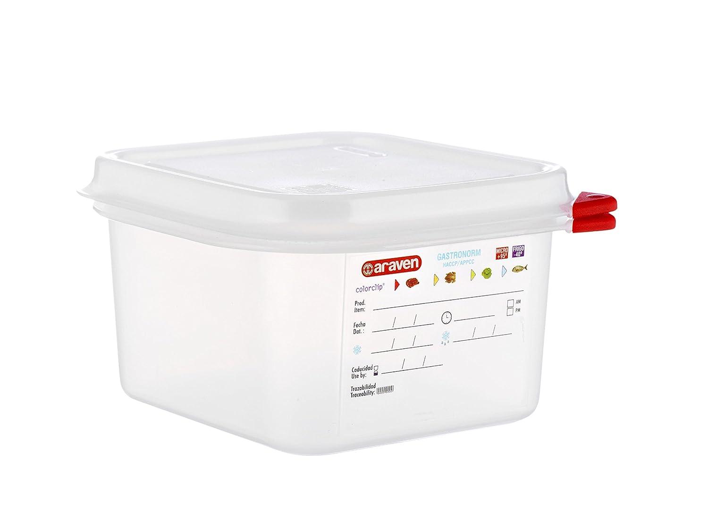 Araven Gastronorm - Fiambrera Profesional (1,8 L, 176 x 162 x 100 mm)