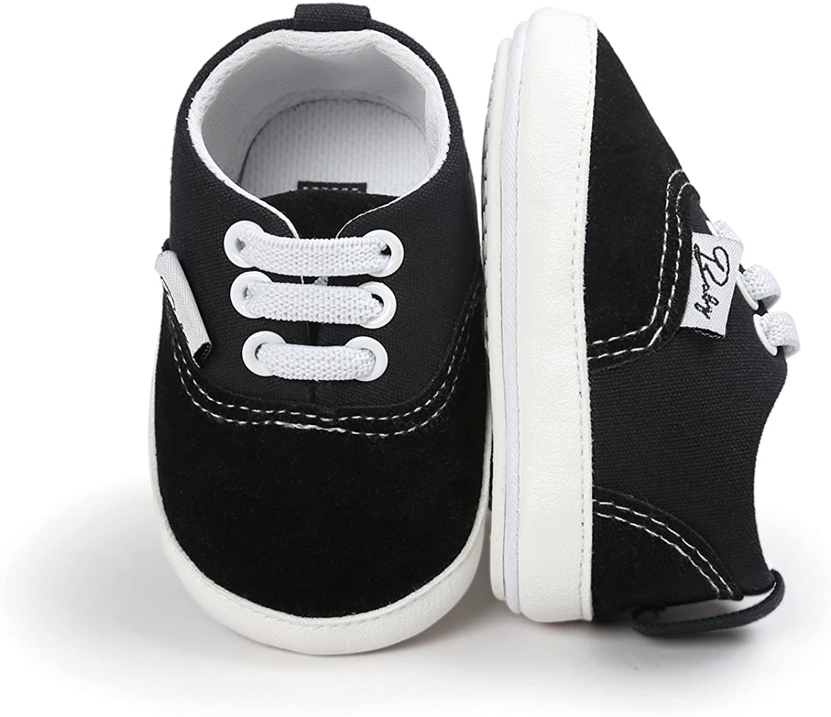 | RVROVIC Baby Boys Girls Shoes Canvas Toddler Sneakers Anti-Slip Infant First Walkers 0-18 Months | Sneakers