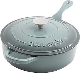 Crock Pot Artisan Enameled Cast Iron 3.5-Quart Deep Sauté Pan