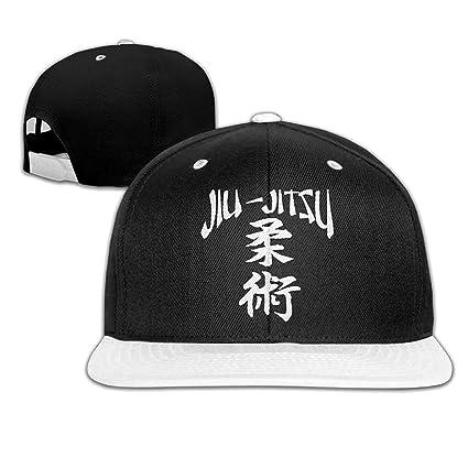 6e439f69f81 Amazon.com   hongwenjy Jiu-Jitsu Japanese Characters Snapback Hats ...