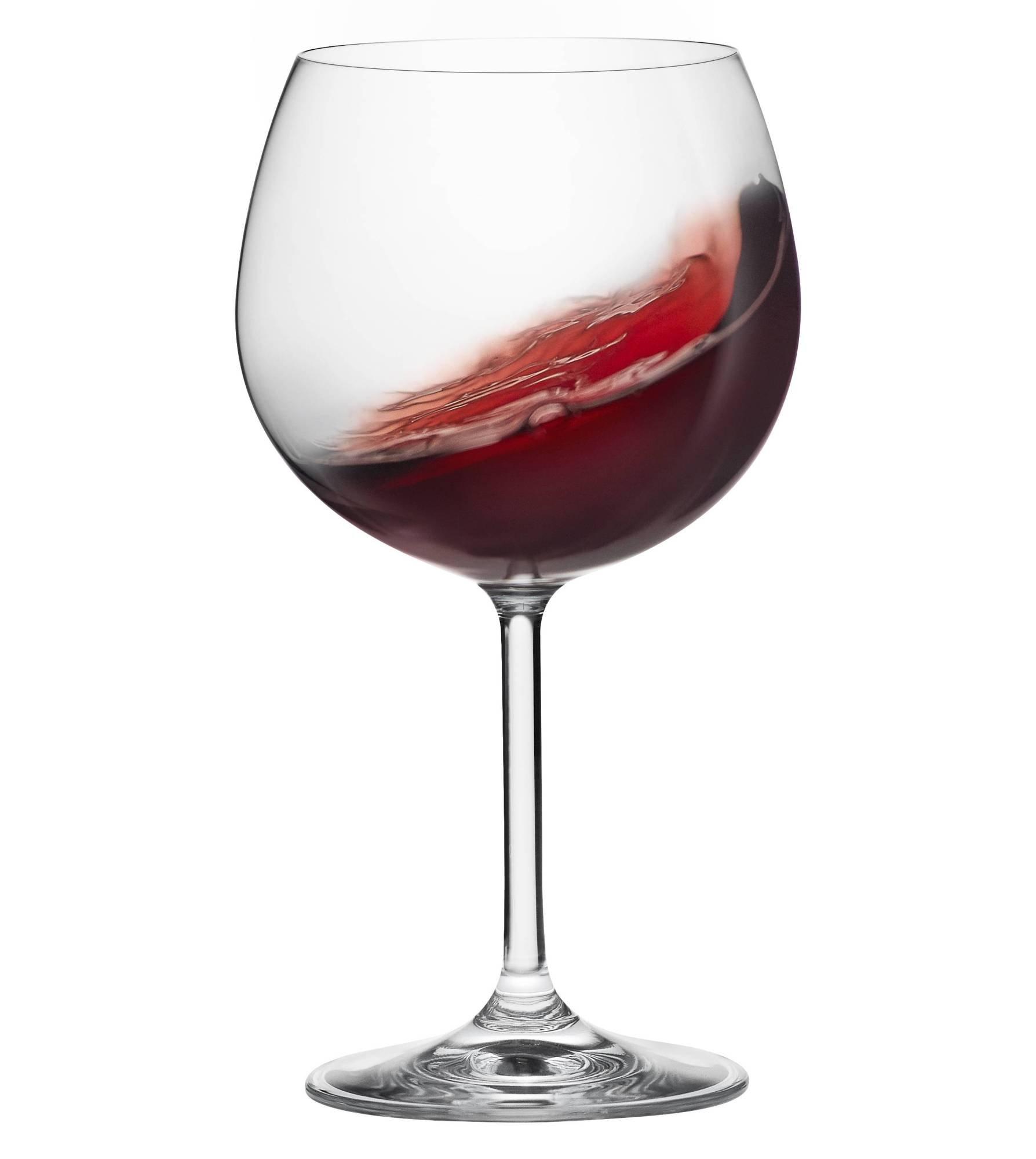 RONA GALA Wine Glass 16 oz, Burgundy, Set of 6