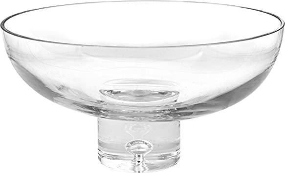 World Gifts 11 X 5 1 2 Inch European Mouth Blown Lead Free Crystal Large Pedestal Bowl Home Kitchen Amazon Com