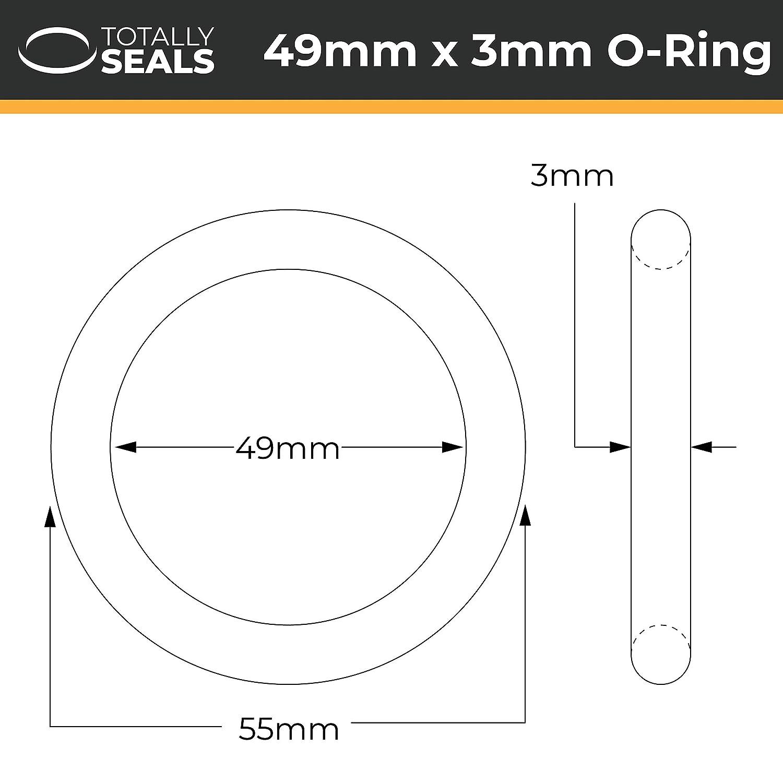 1 Schwarz 55 mm Au/ßendurchmesser verschiedene Packungsgr/ö/ßen 49 x 3 mm 70A Shore H/ärte O-Ringe aus Nitrilkautschuk