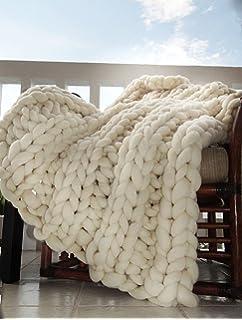 super chunky throw blanket merino hand knit pure merino wool multi - Cable Knit Throw