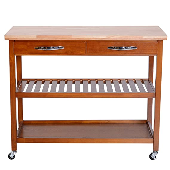 Amazon.com - Caraya 3-Tier Rolling Kitchen Trolley Island ...