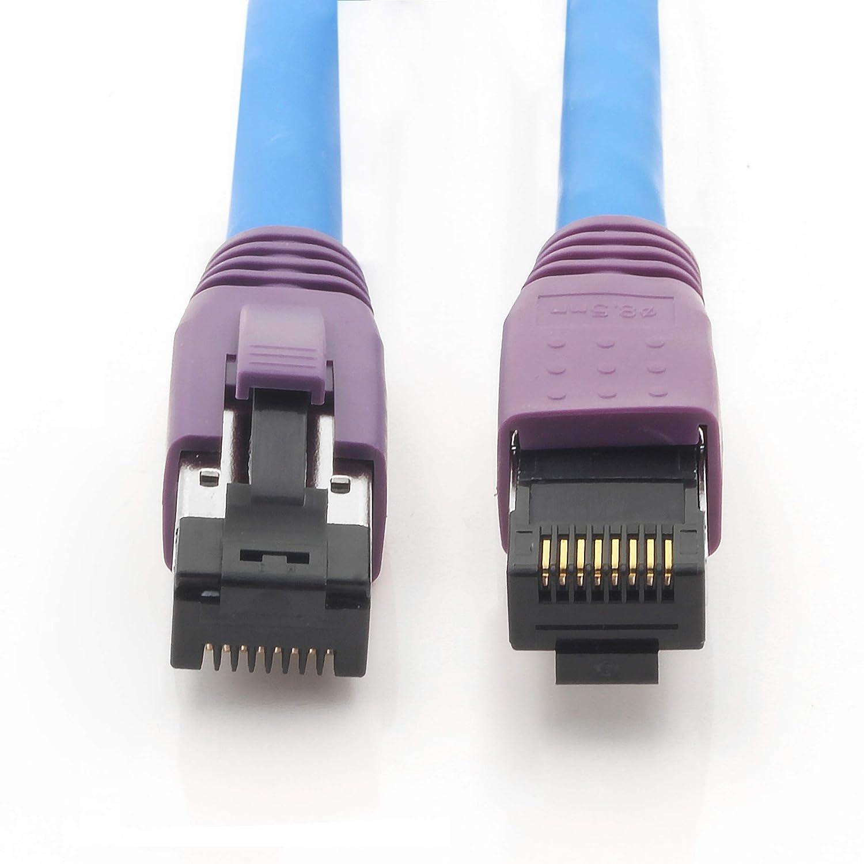 Blu 1 Pezzi Ethernet LAN Cat 8 SFTP Spina RJ45 40 Gbit//s 2000 MHz Compatibile con Cat5 Cat6 Cat6a Cat7 Cat8 per Switch Router Modem Patchpanel 1aTTack.de Cat.8 Cavo di Rete 1m