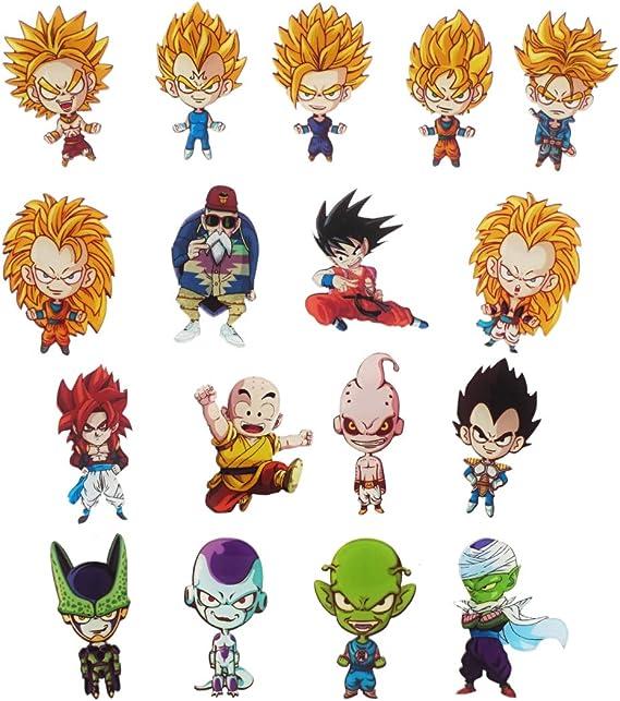 CoolChange 17 imanes con los Personajes Chibi de Dragon Ball de ...