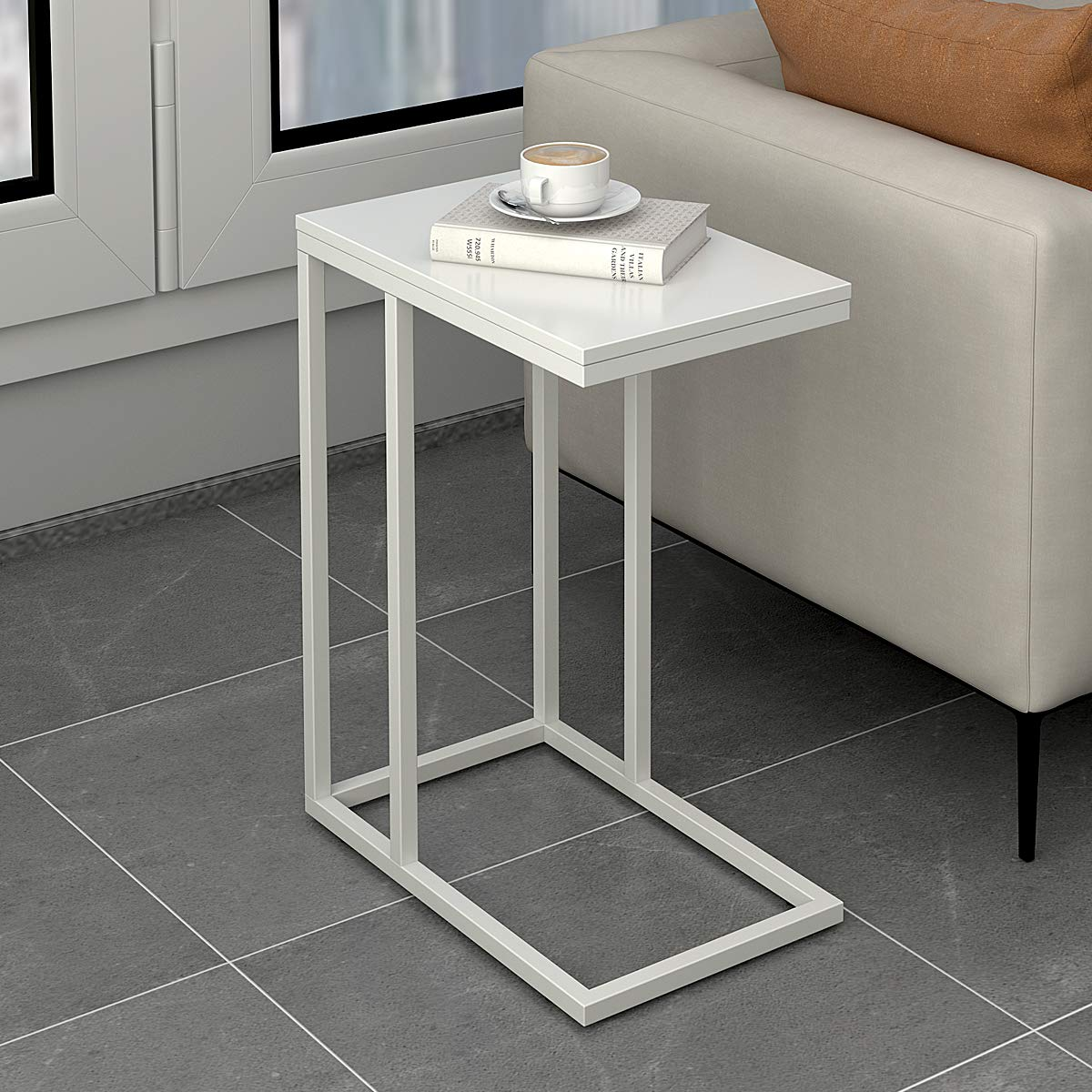 Amazon Com Wlive C Shaped Table End Table Sofa Side Table With
