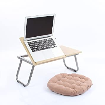 vecelo portable folding adjustable laptop desk stand computer notebook bed tray stand for table sofa