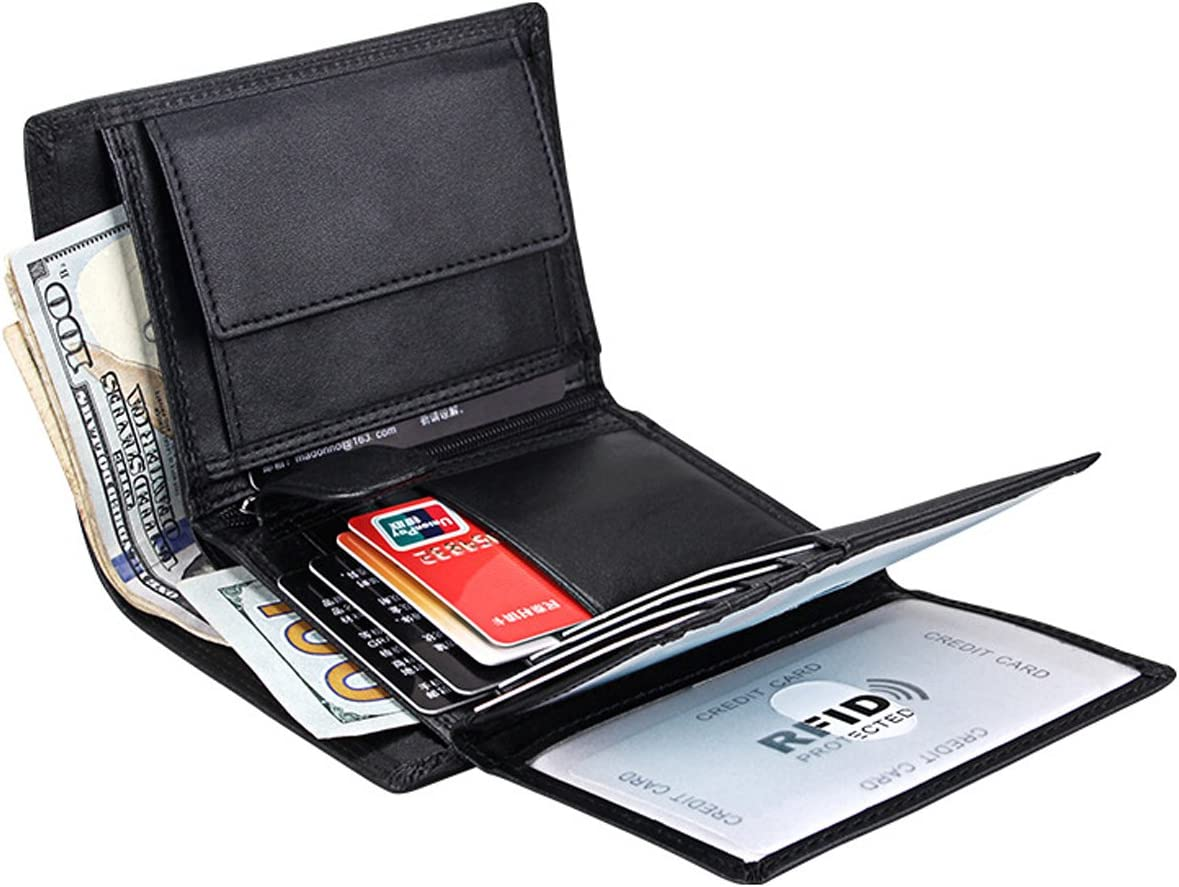 PURSE BLACK 103 MENS LUXURY SOFT QUALITY LEATHER WALLET CREDIT CARD HOLDER
