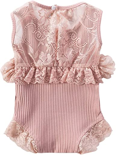 Baby Girl Rose Heart Short Sleeves Jumpsuit Tutu Skirt Sunsuit Outfit with Headband Playwear Outfit L 3Pcs