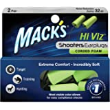 Mack's Shooters Corded Foam Earplugs, 2 Pair