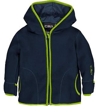 6a1ad53d9b CMP Fleecejacke Jacke Child FIX Hood Jacket DUNKELBLAU ATMUNGSAKTIV (86)