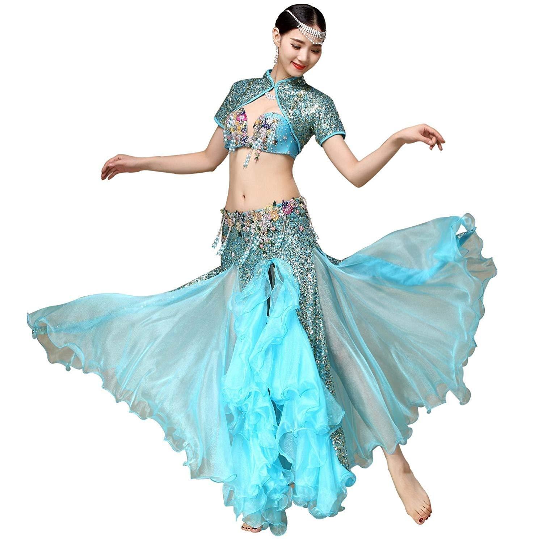 2019人気No.1の 女性のベリーダンスパフォーマンス衣装ブラスカートスーツ M ブルー、スパンコールコート/サイドスプリットスカートスイング3ピース B07Q5Y6QB8 M|ブルー M|ブルー ブルー M, コトブキ無線CQショップ:07a44929 --- a0267596.xsph.ru