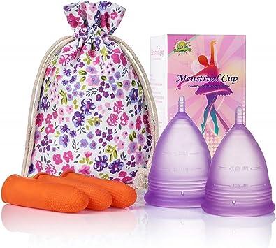 Melyth Copas Menstruales (1 Grande y 1 Pequeña) - Copas de Menstruación Pre y Posparto Reutilizables - Encuentra La Que Mejor Se Te Ajusta - La Mejor ...