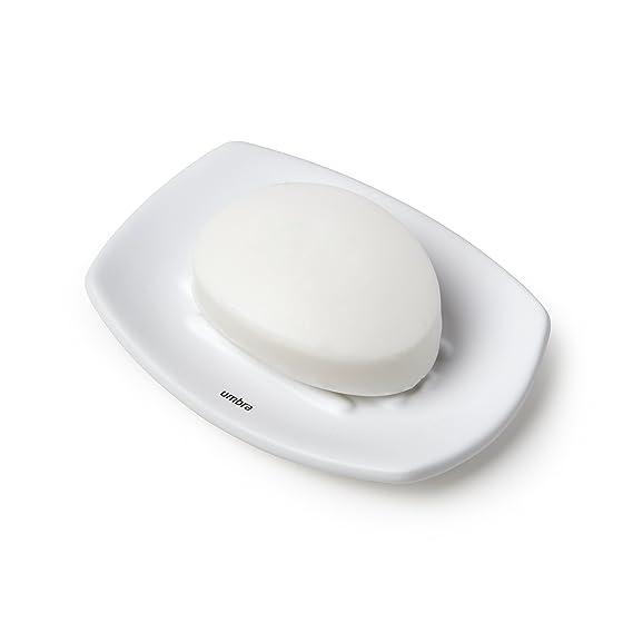 Amazon.com: Umbra Corsa White Hand Liquid Soap Pump Dispenser - Modern Matte Ceramic With Soft-Touch Finish Refillable Foaming Container for Bathroom, ...