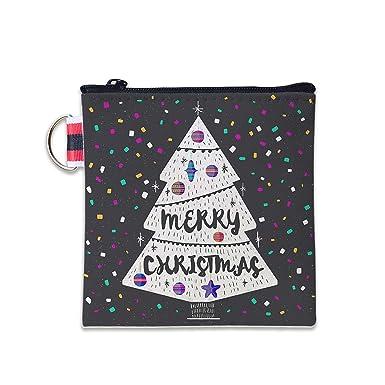 Amazon.com: Monedero de lona con confeti de Navidad con ...
