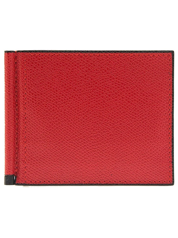 28fde7b75a4f (ヴァレクストラ) VALEXTRA メンズ 二つ折り財布 マネークリップ付 GRIP 6CC HOLDER V0L80 028 [並行輸入品]  B07CNRW1WKRosso -財布