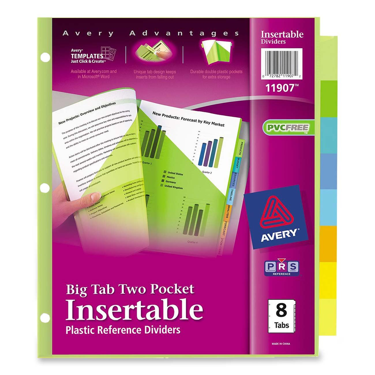Amazon Avery Big Tab Two Pocket Insertable Plastic Dividers 8