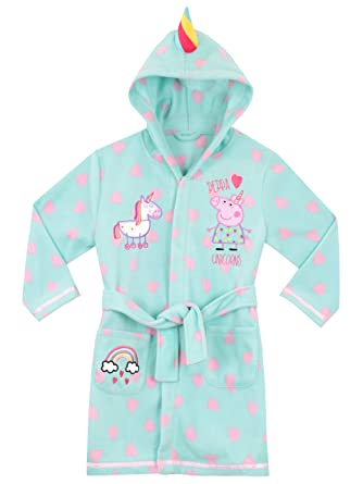 Peppa Pig Girls Unicorn Robe Size 2T Blue