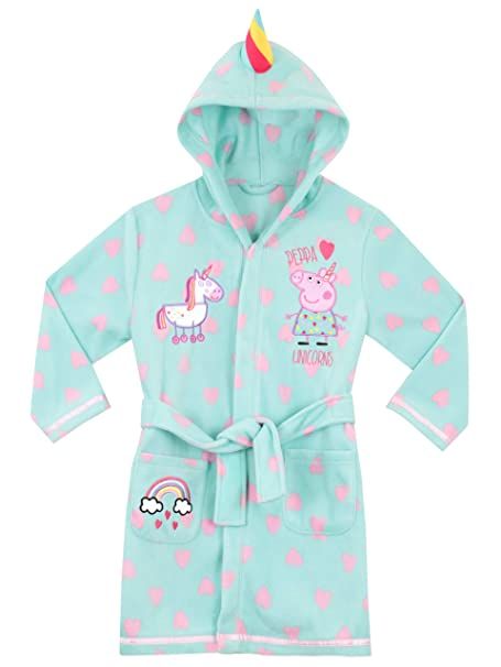 Peppa Pig Robe De Chambre Licorne Fille Amazon Fr Vêtements