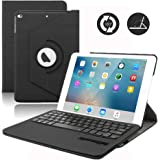 iPad 9.7 Keyboard Case,Dingrich 360 Degree Rotating Case with Magnetic Removable Bluetooth Keyboard for New iPad 9.7 inch 5th Genration (NOT for iPad Pro 9.7) (Black)