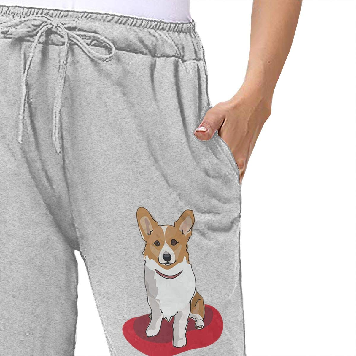 Amazon.com  Lesi Yes Women s Jogger Sweatpants Corgi Dog Active Yoga Lounge  Relaxed Fit Soft Pants with Pockets Workout Training Running  Sports    Outdoors 8b5a4375b