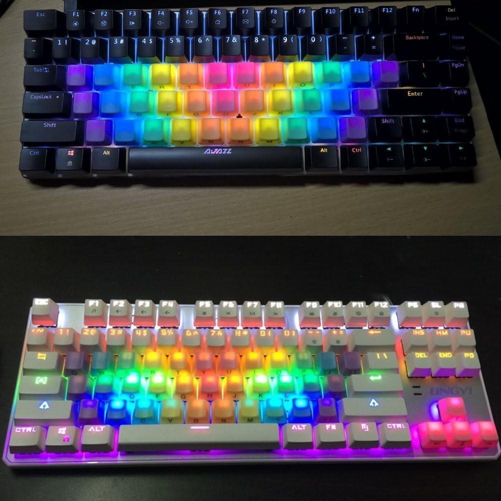 Feicuan 37 Keys Cap Cover Case ABS Colorful Replacement Keycap Universal para Teclado mecánico -Dark Color