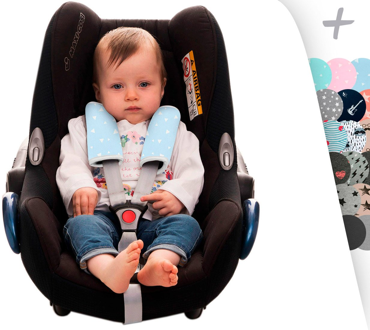 Harness Protector for Stroller, Maxi COSI and Car Seat Janabebe (Crabby, 17 X 18) CY/F06/020/100