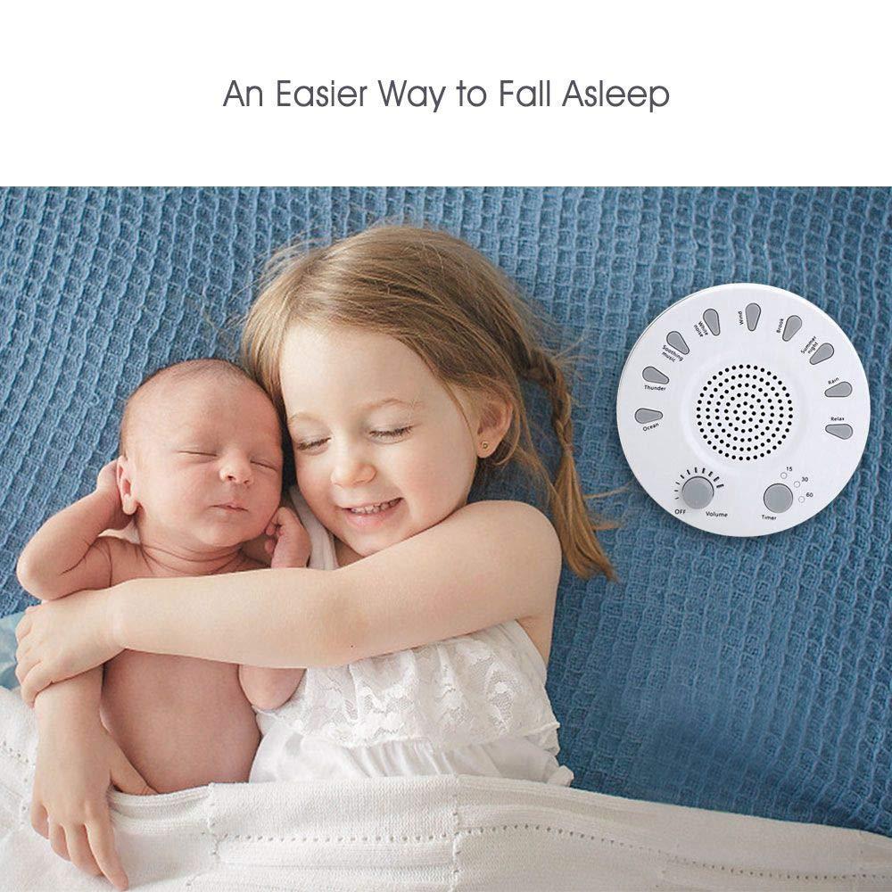 TOOGOO White NOI Sleep Instrument Sleep Artifact Insomnia Improve Sleep Quality Baby Sleep crng Comforter