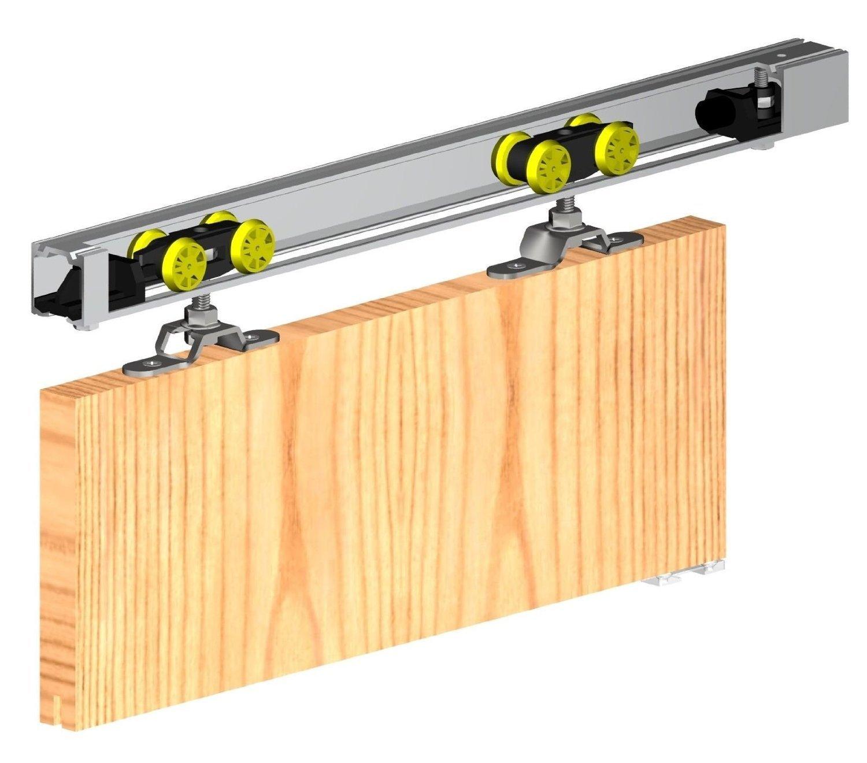 Sistema de engranaje deslizante para puerta 1500 mm HERKULES parte superior colgada, kit de puerta individual interna, 60 kg: Amazon.es: Bricolaje y herramientas