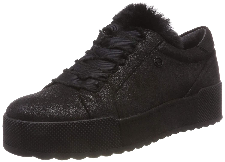 Tamaris 23726-21, Zapatillas para Mujer 39 EU|Negro (Black Metallic 33)