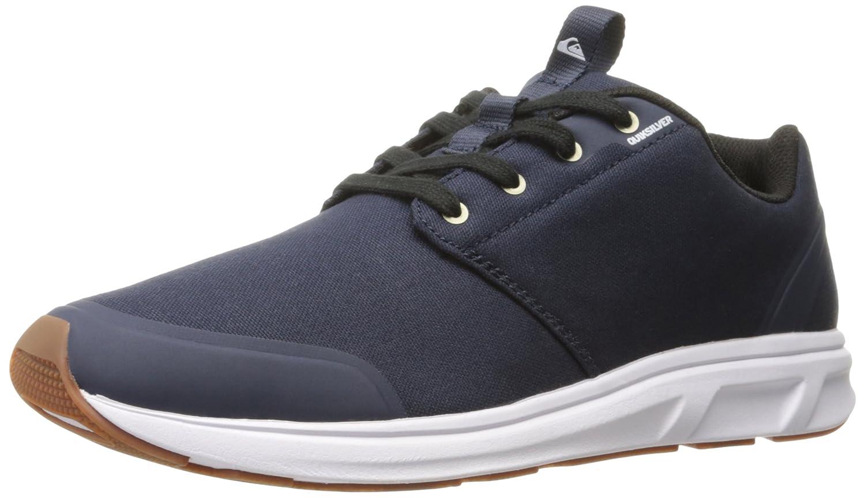 Quiksilver Men's Voyage Textile Sneaker 10 D(M) US|Blue/Black/White