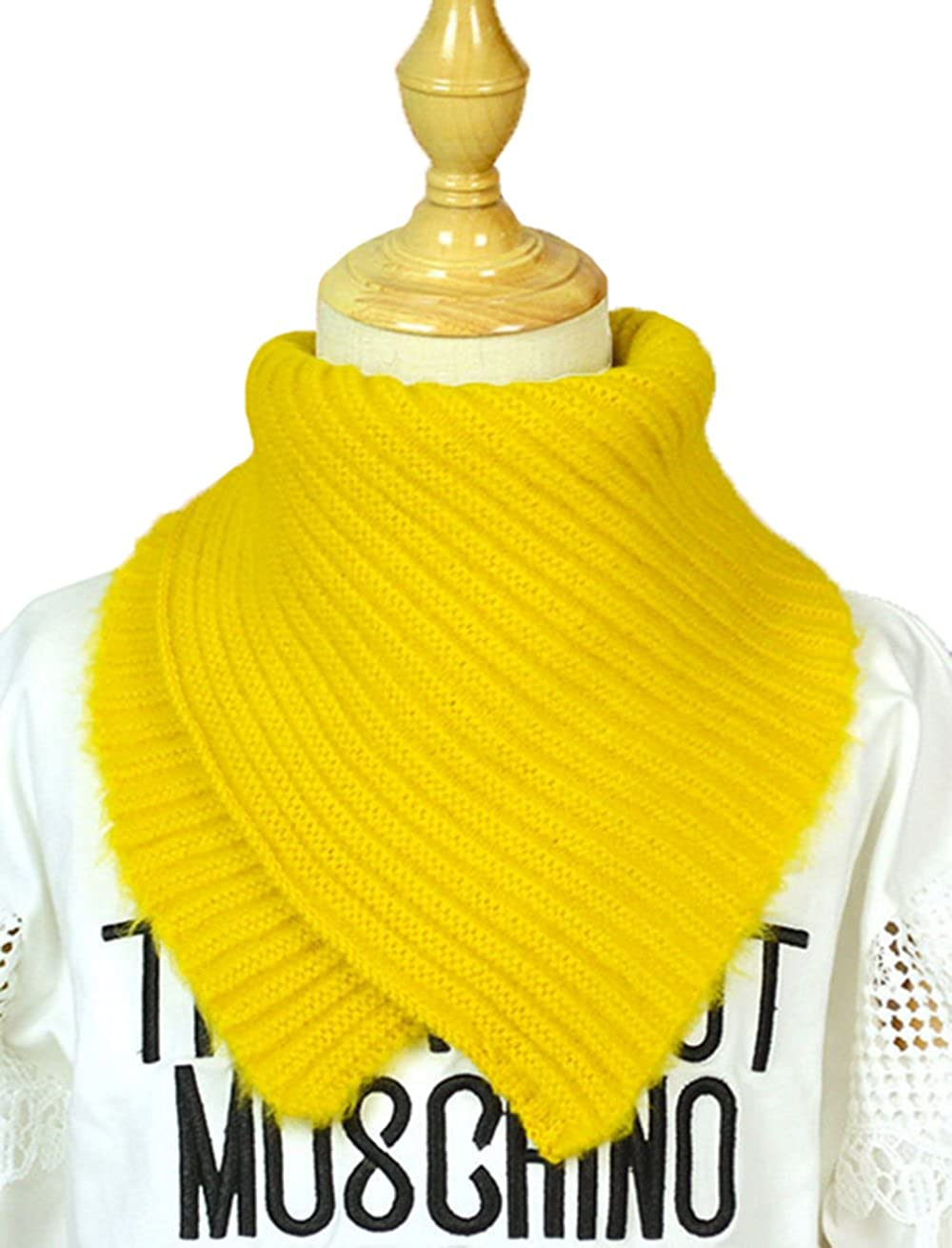 Cute Knitted Wool Scarf Winter Kids Boys Girls Long Scarf Neck Warmer Soft Warm Children Circle Loop Infinity Scarf