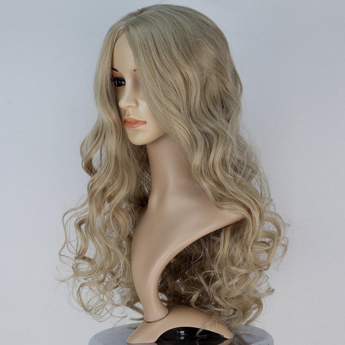 B010U6IO42 Miss U Hair Princess Wig Long Curly Ash Blonde Color Adult Cosplay Costume Full Wig 61PewuoncuL