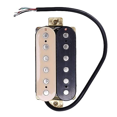 SODIAL - Pastillas para Guitarra eléctrica (52 mm, Repuesto para Fender Stratocaster Les Paul
