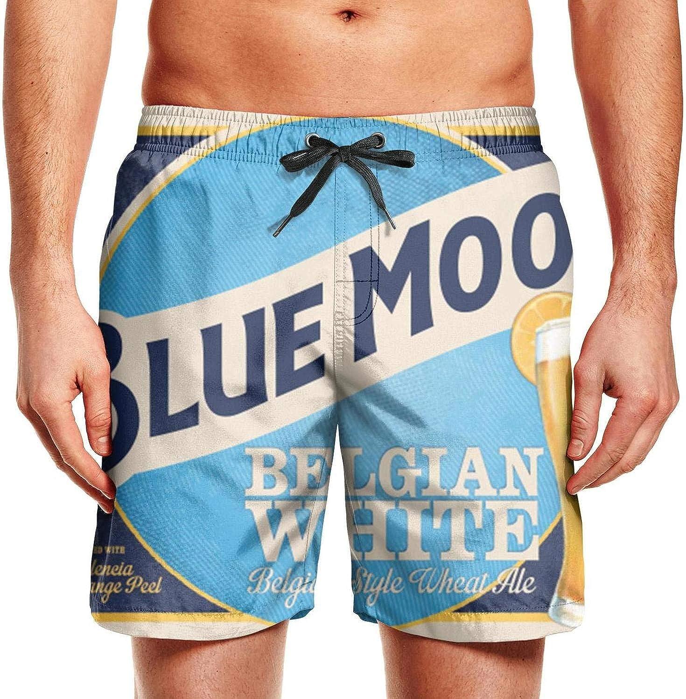 TablincoT Mens Swim Trunks Surfing Beach Shorts Slim Fit Board Shorts-Funny Beer