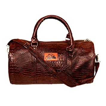 Leather World 37 Liter Brown PU Leather Designer Duffle Bag with Zip  Closure Travel Bag  Amazon.in  Bags 7020706d226eb