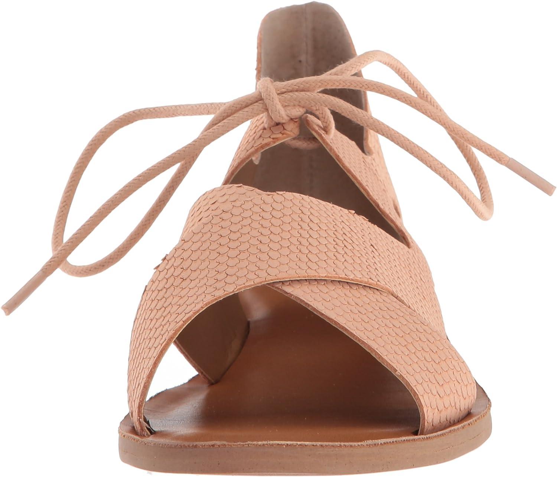 Lucky Brand LK-hafsa, Sandale Plate Femme Ambre Lampe